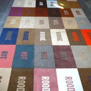 Un tapis de sol tres particulier et colore