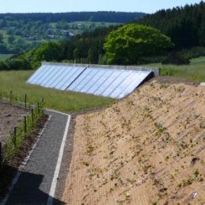 Des pavillons beneficiant de l'energie solaire