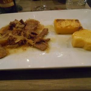 foi de veau et polenta - specialite de venise