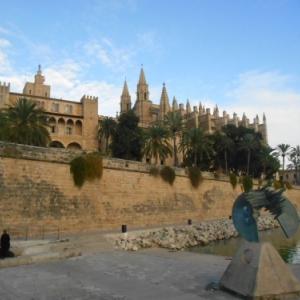 palma de mallorca - cathedrale et palais almudaina