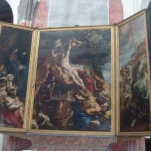 anvers - l erection de la croix de rubens - cathedrale