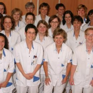 L'equipe medicale de la maternite, neonatalogie et pediatrie