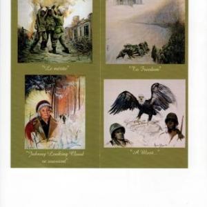 Marie-Elise: trois soldats indien, noir et blanc/ Un Indien/ L'aigle avec un Noir et un Blanc