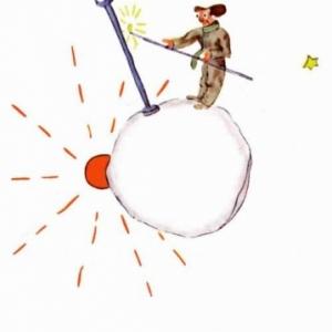 L'allumeur des reverbere du golf (Le Petit prince de St-Exupery.)