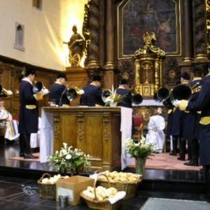 Sainte Catherine et Saint Augustin (eglise de Houffalize: les moines faisaient partie de l'ordre de St-Augustin)