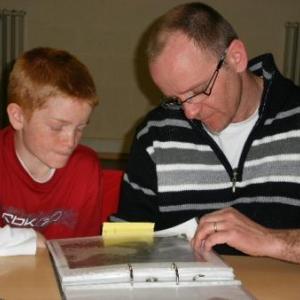 Emmanuel Youcken et son fils Tom, futur president du club (quand il portera des lunettes comme tout le monde)