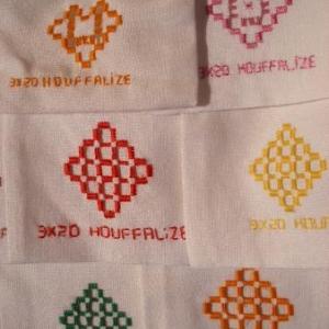 13. exemple de petits sacs, broderie sur commande, au nom d'un club: ici, les 3x20 de Houffalize. 3 euros