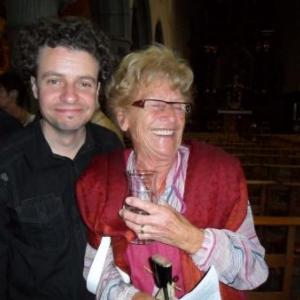 """Stephane Depree, animateur culturel de Houffalize, et Jacqueline Lambin, la """"marraine"""" des artistes houffalois"""