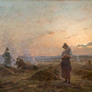 Peinture de Jules Raeymaekers, peintre houffalois + 1904
