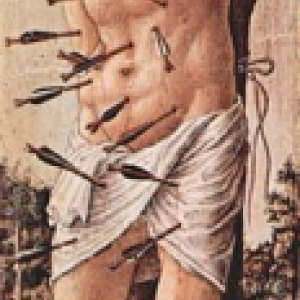 "Un saint Sebastien ""herisson"" antipesteux,1490 (Milan)."