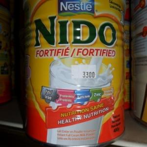 Nido, lait en poudre de Neslé.