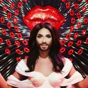 Est-ce subjectif si nous voyons icu Conchita Wurts en Christ Amour mystique?