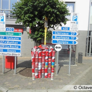 Carrefour route de Bastogne et route de Mabompré.