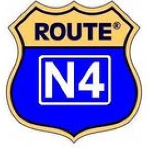 """Le """"logo"""" (""""je m'exprime"""", en grec) de """"la nationale 4, ma route 66 à moi!»"""