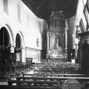 L'autel tel que jusqu'en 1944 - Cliche IRPA