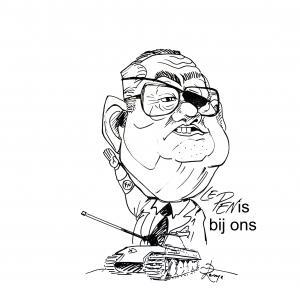caricature Jean-Marie Le Pen par j-M Lesage