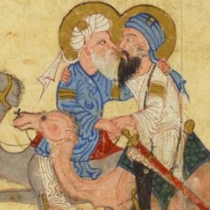 Une peinture, il y a 800 ans, en terre d'Islam, montrant une grande affection de deux hommes (Le monde de Vanity Fair)