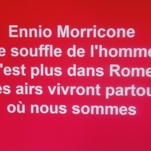 Ennio Morricone. Hommage express