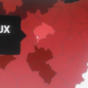 Rendeux est en très clair, Ste Ode et Tenneville en très foncé, les autres communes entre les deux.