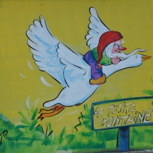 Le célèbre nuton de la Chouffe. Caricature Jean-Marie Lesage.