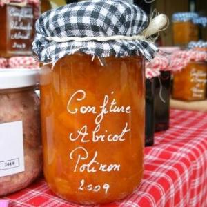 confiture d'abricots et de potiron (3 euros)