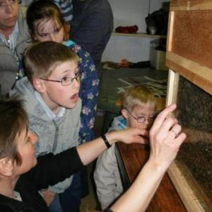 Janique, les enfants, et les abeilles.