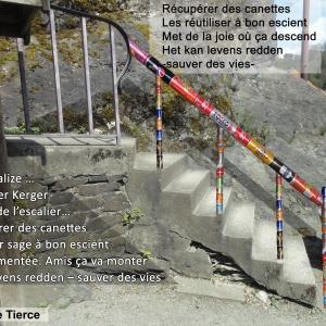 Escalier pied du rocher Kerger (medaillon: siuation existante)