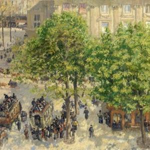 Camille Pissarro (1830–1903), Place du Théâtre Français in Parijs [Place du Théâtre Français), © State Hermitage Museum, St Petersburg