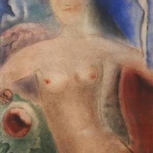 Nu féminin, (vers 1928), Aquarelle sur papier, 100 x 68 cm