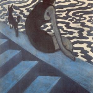 Léon SPILLIAERT (1881 - 1946)*, Baadster, 1910, Oost-Indische inkt, penseel, pastel op papier, 64,9 x 50,4cm, Brussel, KMSKB