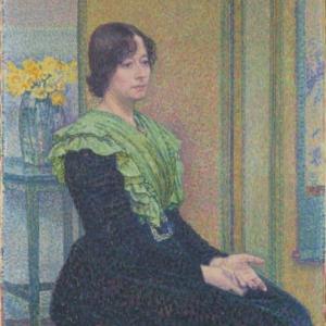 Théo Van Rysselberghe, Portet van Marthe Verhaeren, Mevrouw Emile Verhaeren, 1899.