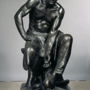 Constantin MEUNIER (1837-1905), The puddleur, sitting statue, bronze,145,5 x 81,5 x 87,5 (1884 / 1887-1888) © Brussels, MRBAB/KMSKB