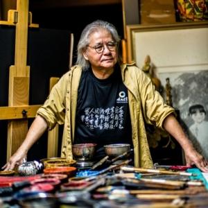 le peintre dans son atelier