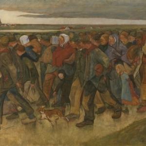 Eugène LAERMANS (1864 - 1940), The Emigrants, 1894, Oil on canvas, 150 x 211 © BrusselsMRBAB/KMSKB