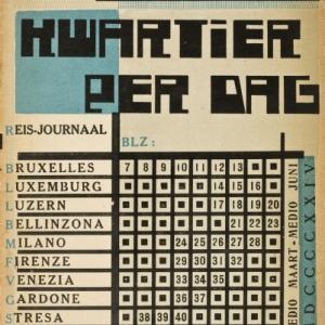 Duco Perkens [ps. Eddy du Perron] (1899-1940) en Jozef Peeters (1895-1960), Kwartier per dag, 1924, Museum voor Schone Kunsten, Gent. Bibliotheek. Precieuze reserve