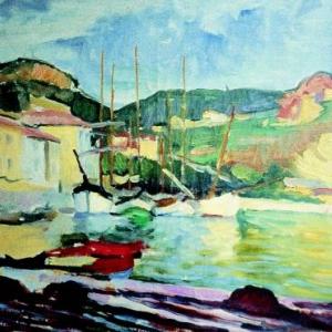 Charles Camoin, Quatre bateaux dans le port de Cassis, 1904-1905, Fondation Bemberg, Toulouse, Adagp, Paris 2012