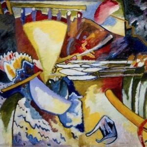 Wassily Kandinsky, Improvisatie 11, 1910, Olieverf op doek, 97,5 x 106,5 cm, copyright Russian Museum, St. Petersburg