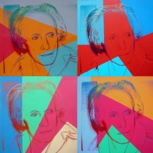 Paul Delvaux,Acryl op zeeffdruk op textiel,Collect. Gallery Andrian David, Knokke , © The Andy Warhol Foundation for the Visual Arts, Inc. / SABAM Belgium 2013