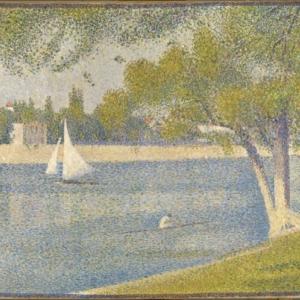 Georges SEURAT (1859-1891), The Seine river at Grande-Jatte, Oil on canvas, 65 x 82, (1888) ©Brussels, MRBAB/KMSKB