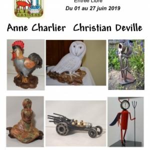 Exposition des artistes Anne CHARLIER et  Christian DEVILLE à Cerfontaine