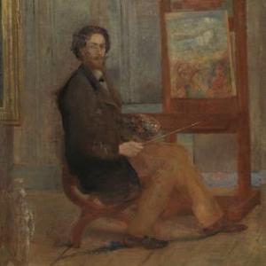 James Ensor Ensor voor zijn schildersezel, 1890, doek 59 x 41 ©