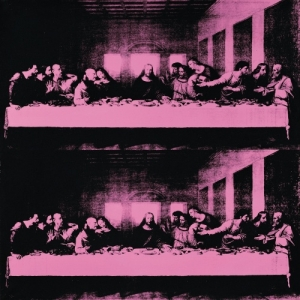 The last supper, 19861,Acryl op zeeffdruk op textiel, Collection Credito Valtellinese, Sondrio, © The Andy Warhol Foundation for the Visual Arts, Inc. / SABAM Belgium 2013
