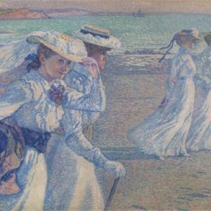 Théo VAN RYSSELBERGHE (1862 - 1926), The promenade, 1901, Oil on canvas, 97x 130, 1901 ©Brussels, MRBAB/KMSKB
