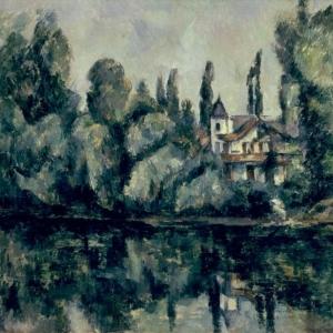 Alfred Sisley (1839–1899), Rivieroever bij Saint-Mammès [Berges de la rivière à Saint-Mammès], © State Hermitage Museum, St Petersburg