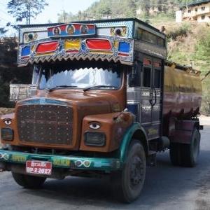 typische vrachtwagen