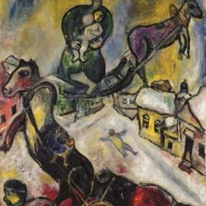 La Guerre, 1943, huile sur toile, copyright ADAGP, Paris 2013 / CHAGALL