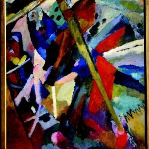 Wassily Kandinsky, Sint-Joris II, 1911, Olieverf op doek, 107 x 95,2 cm, copiright Russian Museum, St. Petersburg