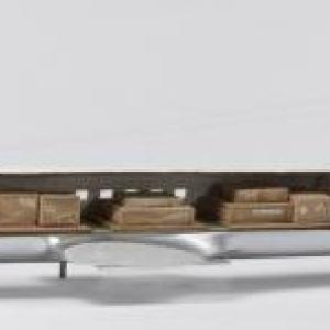 Maquette van een DC-7C in vrachtuitvoering