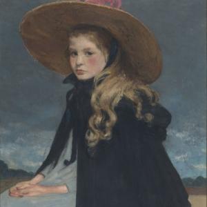 Henri EVENEPOEL (1872-1899), Henriette with the large hat, 72 x 58, 1899 © Brussels, MRBAB/KMSKB