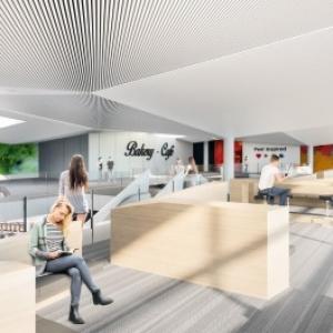 Agrandissement de l'espace commercial du Terminal 1 à Brussels South Charleroi Airport.